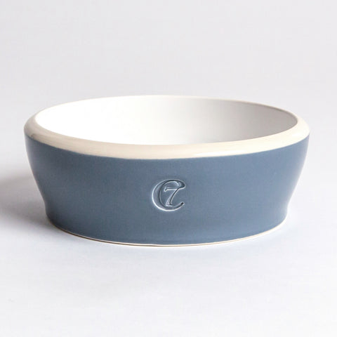 Cloud7 Jamie Dog Food and Water Bowl, Blue