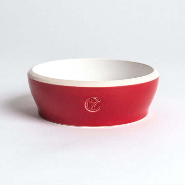 Cloud7 Jamie Dog Food and Water Bowl, Red