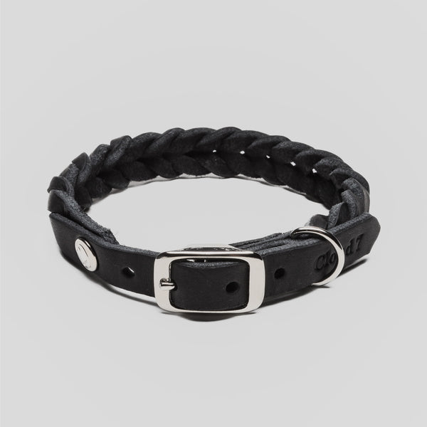 Cloud7 Dog Collar Central Park Black Leather