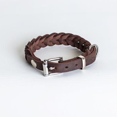 Cloud7: Central Park Saddle Brown Leather Dog Collar