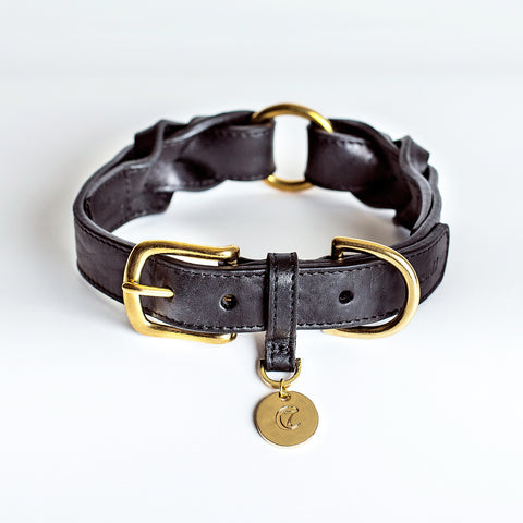 Cloud7 Dog Collar Hyde Park Black Leather