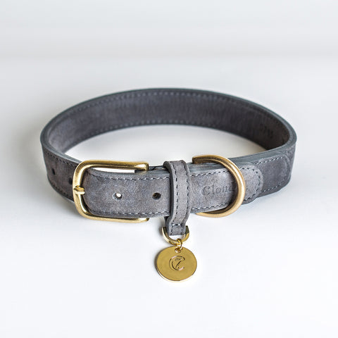Cloud7 Tiergarten Nubuck Dog Collar in Taupe