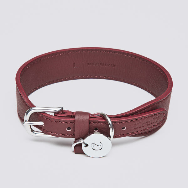 Cloud7: Vondelpark Burgundy Dog Collar