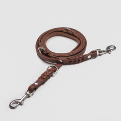 Cloud7: Riverside Park Brown Leather Dog Leash