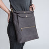 Cloud7: Dog Walking Bag in Heather Brown