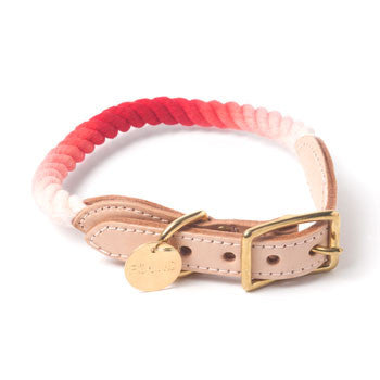Rope and Leather Collar, Coral