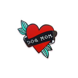 DOG MOM RED PIN