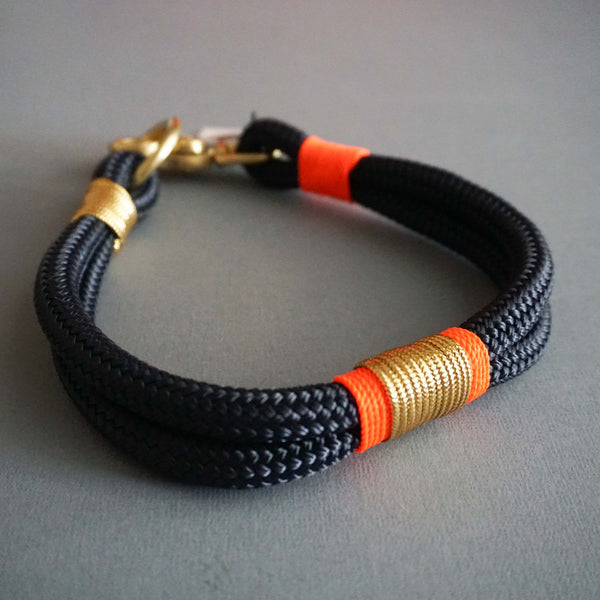 Rugged Hudson Collar: Gold with Fluorescent Citrus