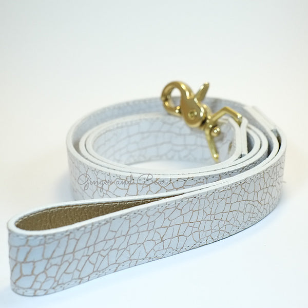 Madison Avenue Leash - White