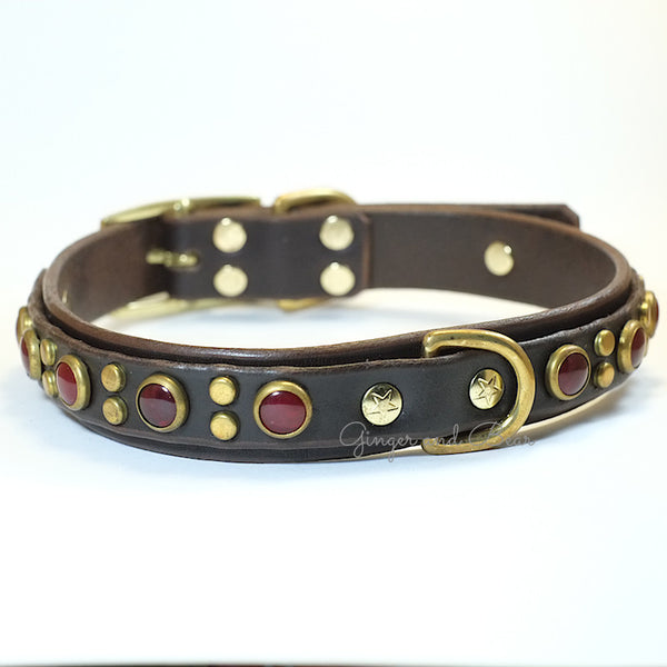 Paco Leather collar - Jojo Deluxe