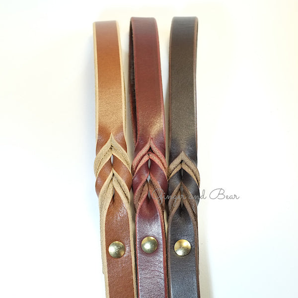 Paco Leather leash - Chocolate Brown