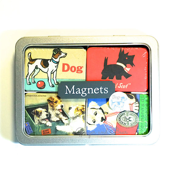 Stationery: Cavallini Vintage Dogs Magnets