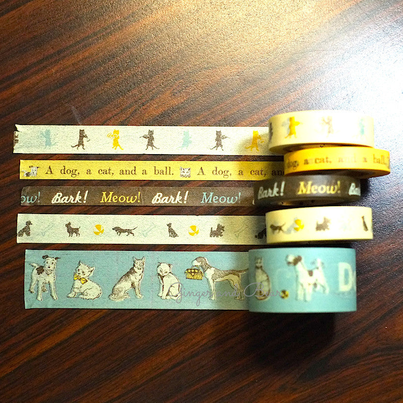 Stationery: Cavallini Vintage Dogs and Cats Paper Tape
