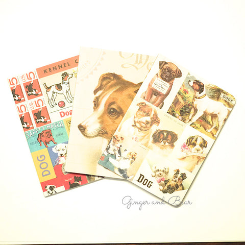 Stationery: Cavallini Vintage Dogs Notebook