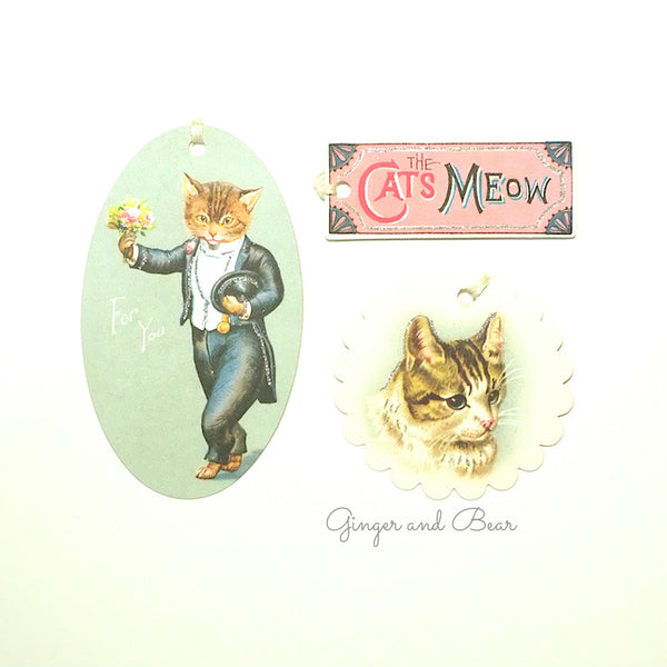 Stationery: Cavallini Vintage Cats Petite Parcel Set
