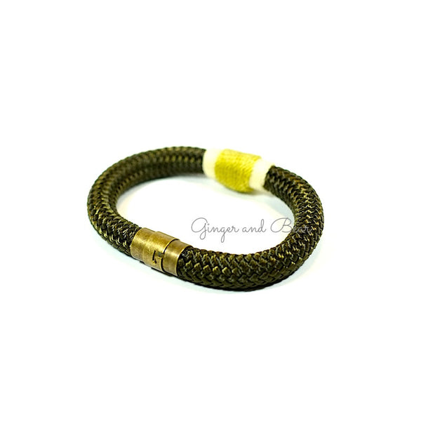 Rugged Eleanor Bracelets: Gold Olive