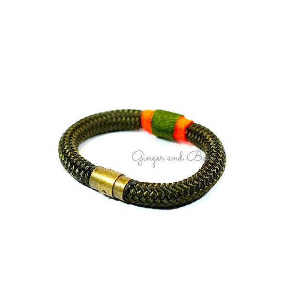 Rugged Eleanor Bracelets: Seaweed Olive