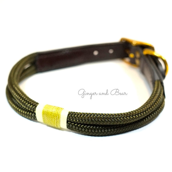 Rugged Hudson Collar: Gold Olive