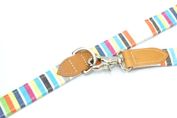 Hiro+Wolf Hands-free leash: Pastel Stripe Kikoi