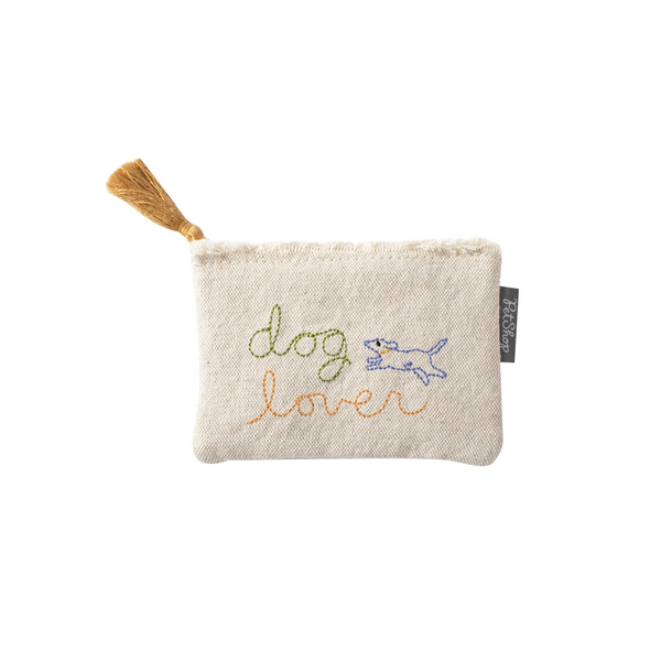 Dog Lover Canvas Coin Pouch