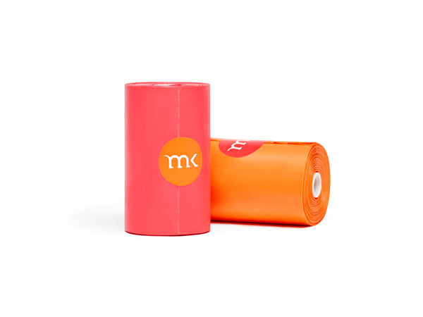 240-Count Modern Kanine® Dog Waste Bags, 12 Refill Rolls in Orange & Coral