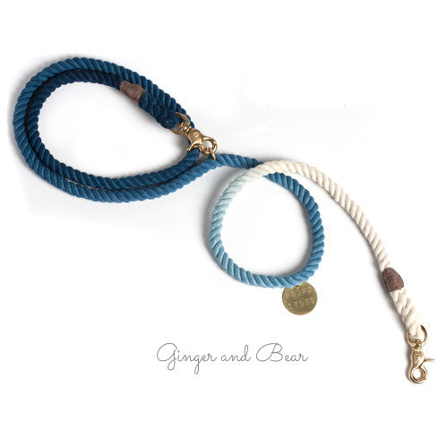 Adjustable Rope Leash, Indigo
