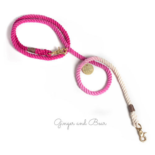 Adjustable Rope Leash, Magenta