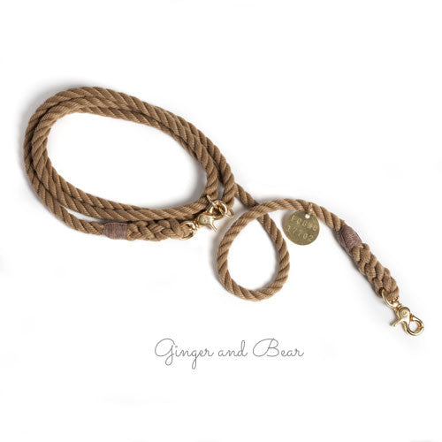 Adjustable Rope Leash, Natural