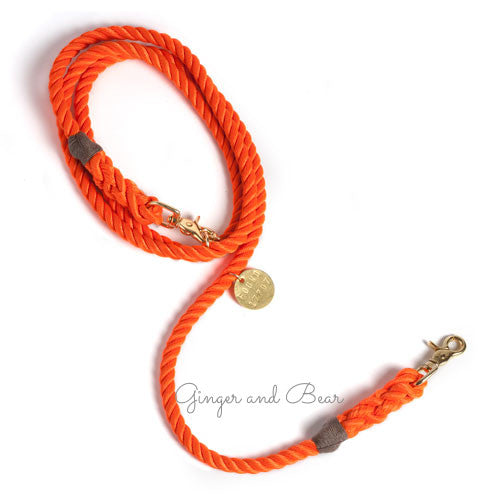 Adjustable Rope Leash, Orange Rescue