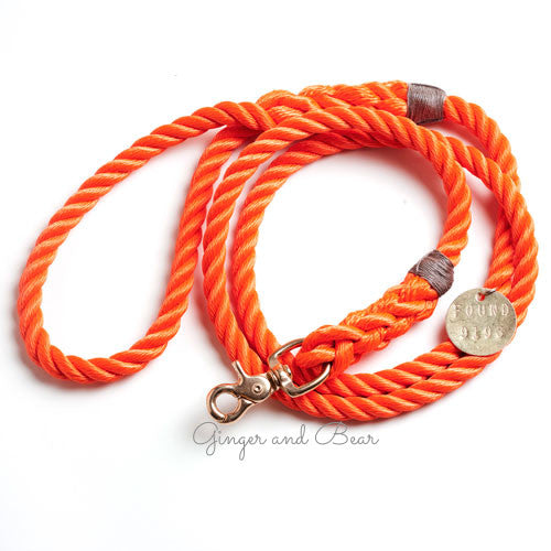 Standard Rope Leash, Orange