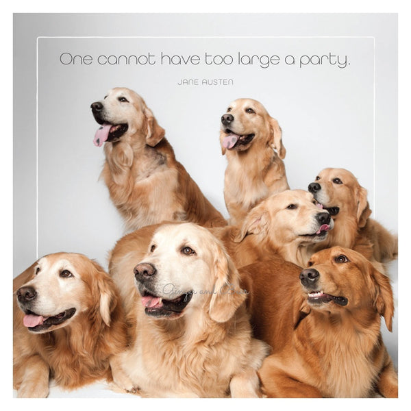 Famous Barks: Golden Retriever Party