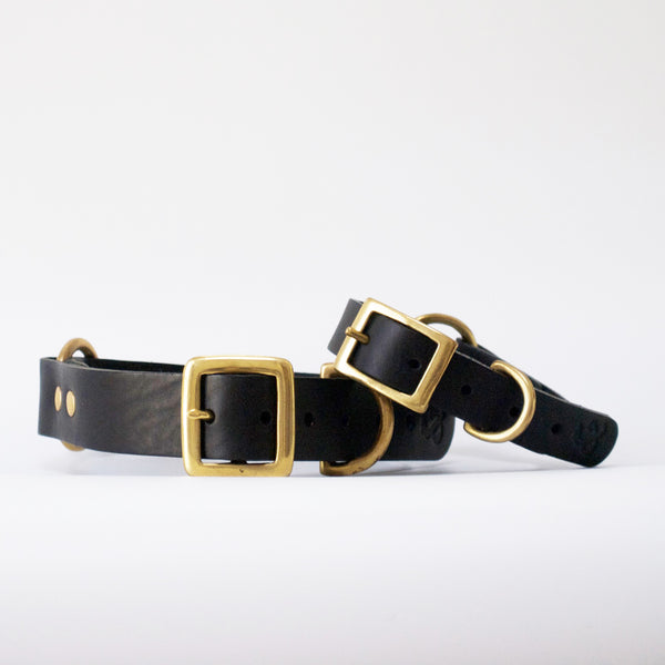 Leather Dog Collar, Black