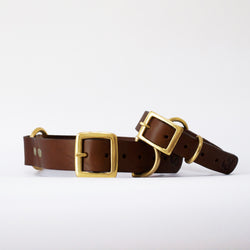 Leather Dog Collar, Brown