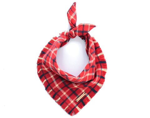 Foggy Dog Cat Country Flannel Plaid bandana