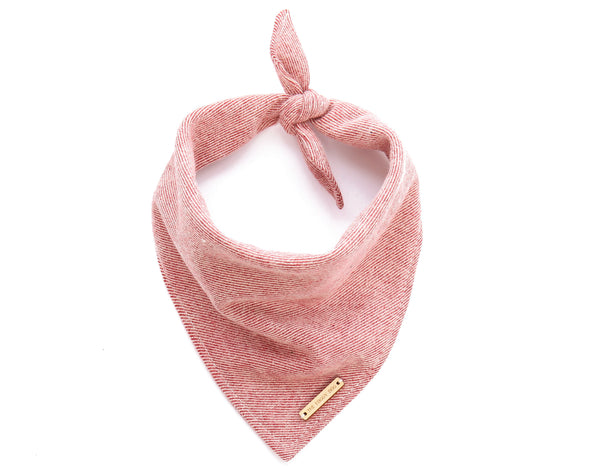 Foggy Dog Cat Heathered Cranberry Flannel bandana