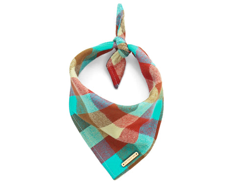 Foggy Dog Cat Taos Flannel bandana