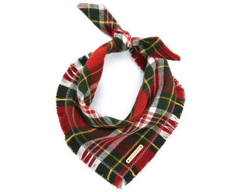 Foggy Dog Cat Tartan Plaid Flannel bandana