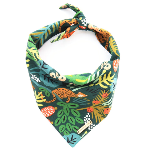 Foggy Dog Whimsical Jungle bandana
