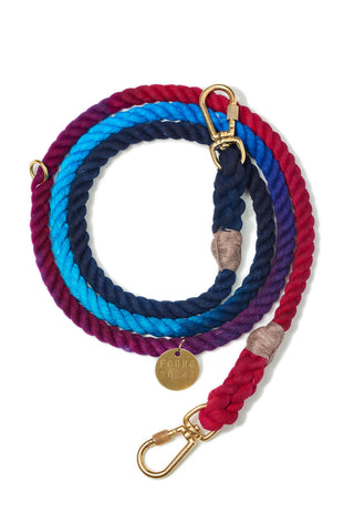 Adjustable Cotton Rope Dog Leash, Cosmic Storm