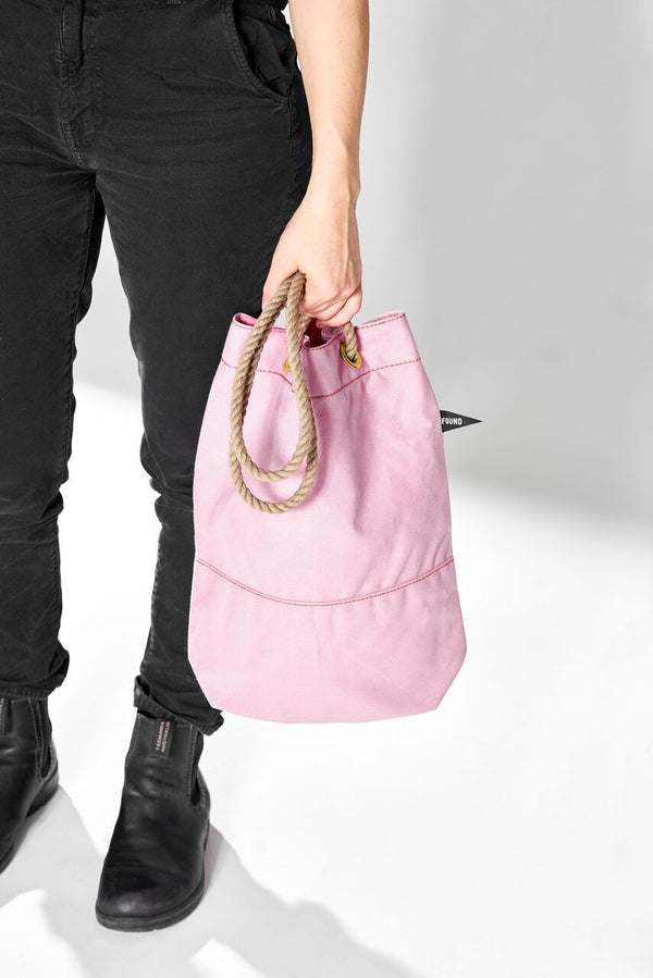 Found My Animal Cotton Canvas Tote Baby Pink