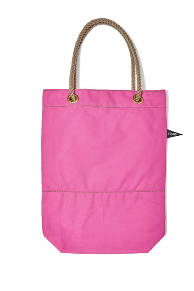 Found My Animal Cotton Canvas Tote Bright Pink