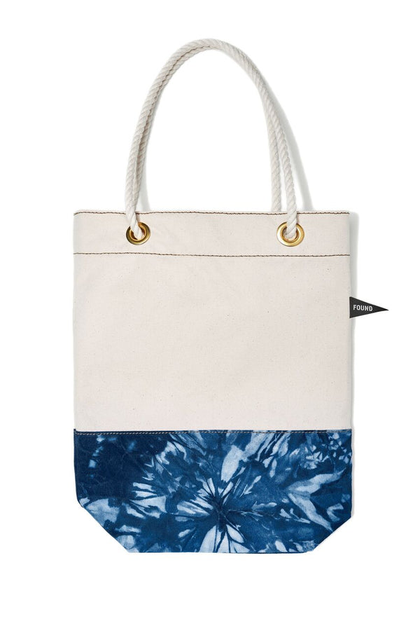 Found My Animal Cotton Canvas Tote Tie Dye Navy
