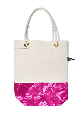 Found My Animal Cotton Canvas Tote Tie Dye Pink