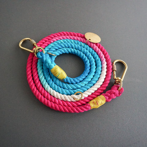 Found My Animal Cotton Rope leash Deep California for Dogs