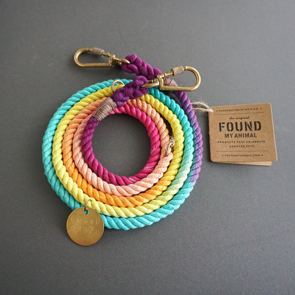 Found My Animal Cotton Rope leash Unicorn for Dogs