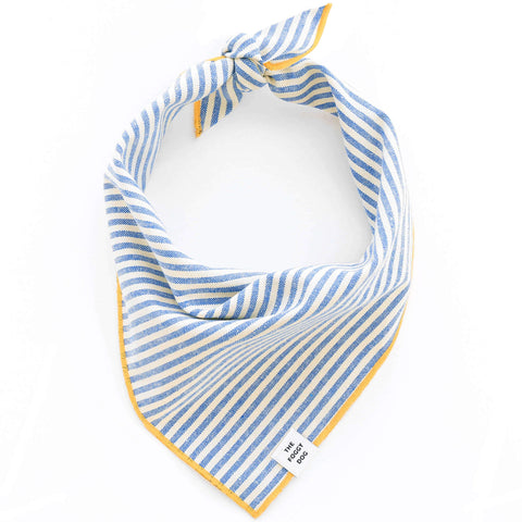 Dog and Cat Bandana: French Blue Stripe