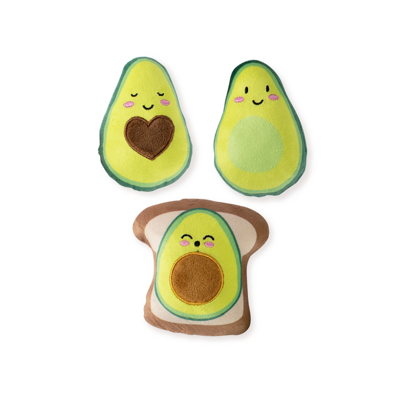 Mini Avocado, Dog Squeaky Plush toy