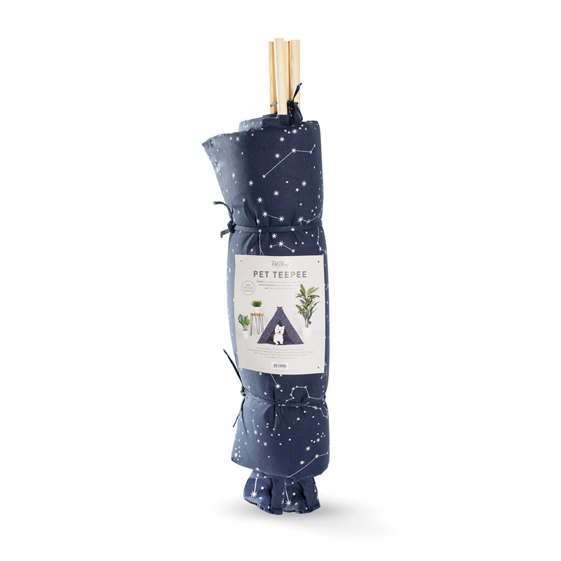 Canvas Tee Pee for Dogs and Cats: Celestial