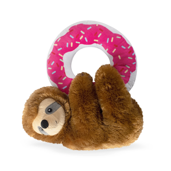 Donut Leave Me Hangin' Sloth, Dog Squeaky Plush toy