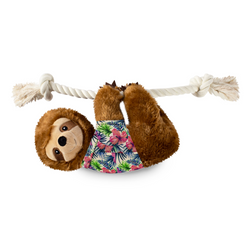 Summer Sloth, Squeaky Plush Dog toy (Large)
